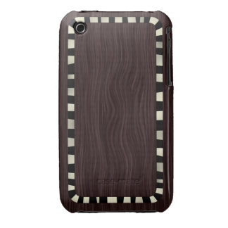 Dark Wood Case-Mate iPhone 3 Protectores