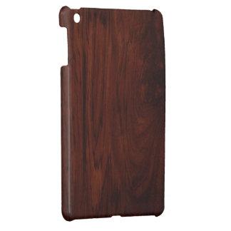 Dark Wood Grain Hard shell iPad Mini Case. Case For The iPad Mini