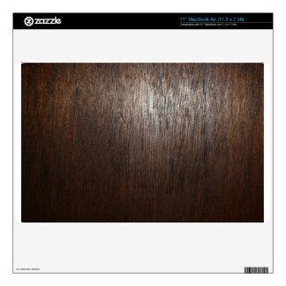 """Dark Wood Grain Laptop Cover Decal For 11"""" MacBook Air"""