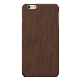 Dark Wood Grain Look Background Matte iPhone 6 Plus Case