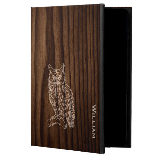 Dark Wood Grain Look with Owl iPad Air 2 Case Powis iPad Air 2 Case