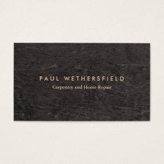 Dark Wood Grain Rustic Carpenter Carpentry Business Card at Zazzle