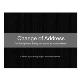Dark Wood & Grey Change of Address Postcard