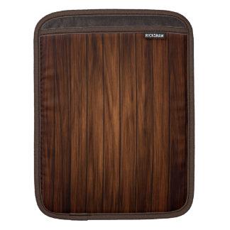 Dark Wood Sleeves For iPads