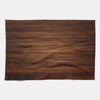 Dark Wood Kitchen Towel