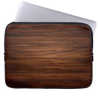 Dark Wood Laptop Sleeve