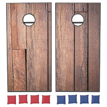 produkto Dark Wood Panel. Cornhole Set