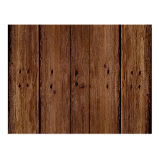 Dark Wood Planks Postcard