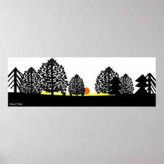 dark wood sunrise (Poster) Poster
