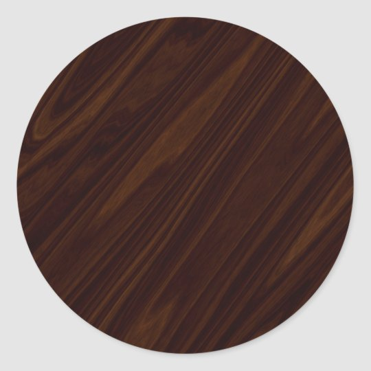 Dark Wood Texture Classic Round Sticker Zazzle Com