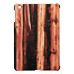 dark wood timber burnt iPad mini case