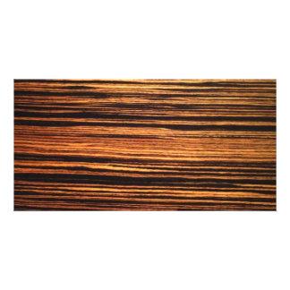 Dark Wood Veneer Card