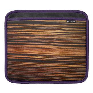 Dark Wood Veneer iPad Sleeves