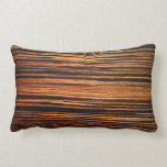 Dark Wood Veneer Throw Pillow