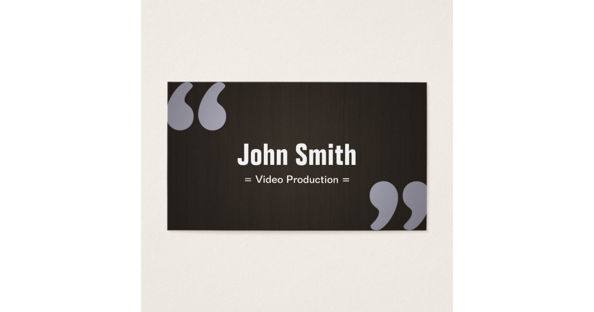 Dark Wood Video Production Business Card | Zazzle.com