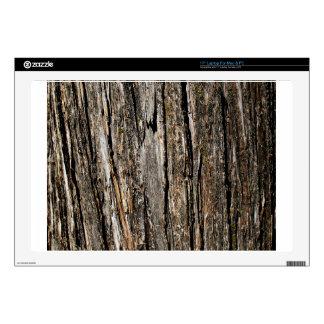 Dark Wooden Bark Laptop Decals