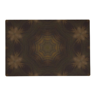 Dark wooden pattern laminated place mat