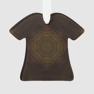 Dark wooden pattern ornament