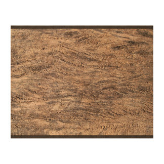 Dark Wooden Rough Surface Queork Photo Prints