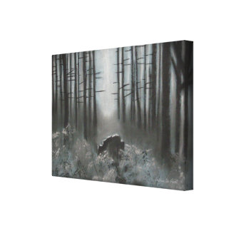Dark Woods Canvas from an Original Pastel Drawing