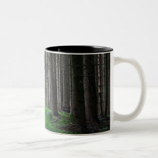 Dark woods Two-Tone coffee mug