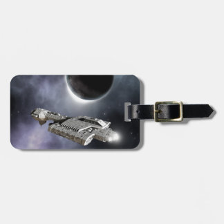 Dark World - Science Fiction Battle Cruiser Tag For Bags