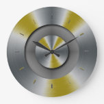 Dark Yellow Accents Color Matched Wall Clocks