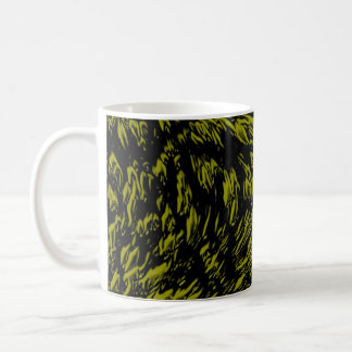 Dark Yellow Cartoon Texture Coffee Mug