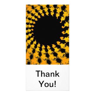 Dark Yellow Fractal Card
