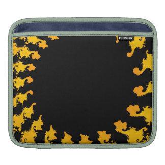 Dark Yellow Fractal iPad Sleeves