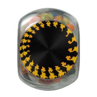 Dark Yellow Fractal Jelly Belly Candy Jar