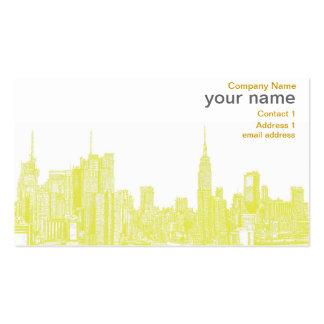 Dark yellow NYC Business Card