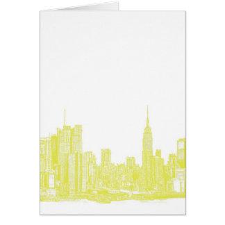 Dark yellow NYC Greeting Card