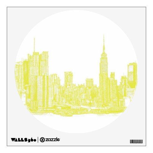 Dark yellow NYC Room Graphic