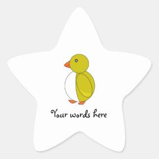Dark yellow penguin star stickers