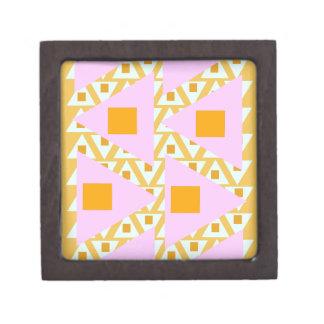 dark yellow pink orange mixed triangles premium jewelry boxes