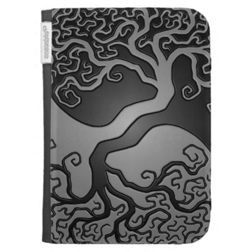 Dark Yin Yang Tree Case For The Kindle