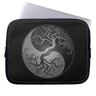 Dark Yin Yang Tree Computer Sleeve