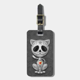 Dark Zombie Sugar Kitten Bag Tag