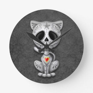 Dark Zombie Sugar Kitten Wallclock