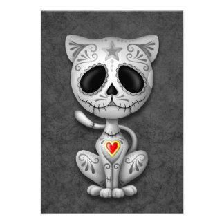 Dark Zombie Sugar Kitten Invitations