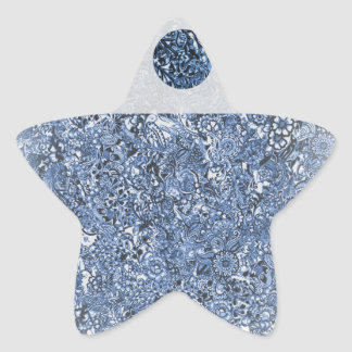 DarkBlue 3Points Star Sticker