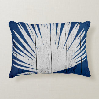 DarkBluePalm3 Accent Pillow