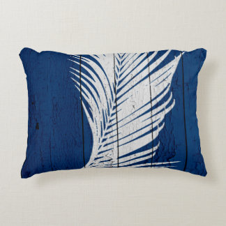 DarkBluePalm4 Accent Pillow