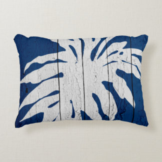 DarkBluePalm5 Accent Pillow