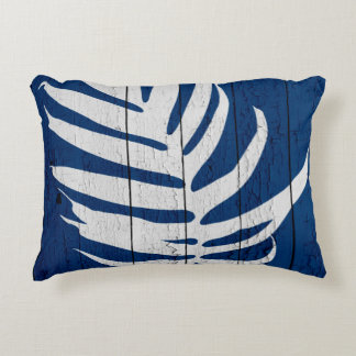 DarkBluePalm7 Accent Pillow