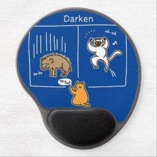 Darken (color for dark) gel mouse pad