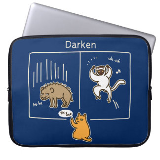 Darken (color for dark) laptop sleeve