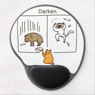 Darken (color) gel mouse pad