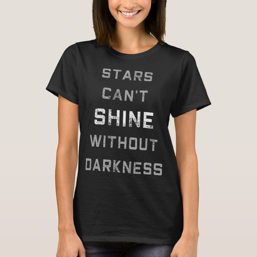 Darken side lights of stars quotation T-Shirt - Best Selling Long-Sleeve Street Fashion Shirt Designs
